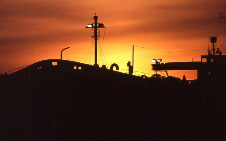 Tanker at Sunset - ID: 1984674 © Tedd Cadd