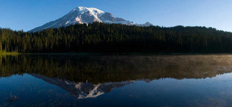 Mt. Rainier Reflection Lake Panorama