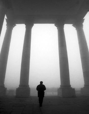 Man in the fog