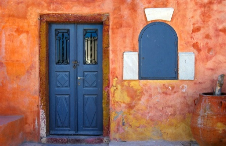 Old House in Santorini, Greece