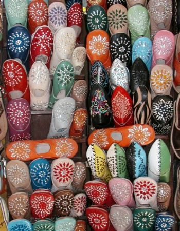 Shoe Display, Marrachech - Morocco