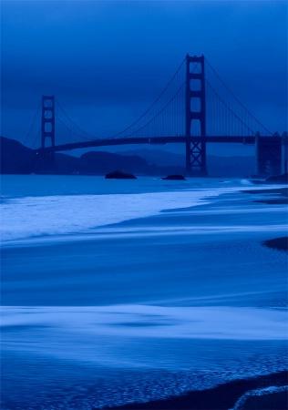 Golden Gate in Blue