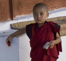 Young Bhutanese Monk--cropped