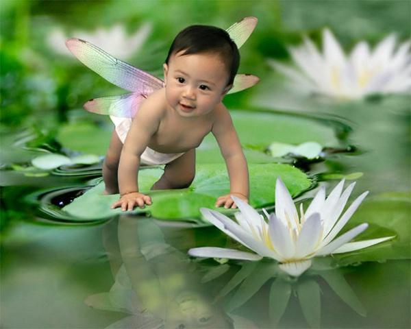 Baby On Leaf (2)