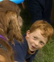 Red Hair Boy meets Jester close-up