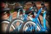 Three Blue Bikes