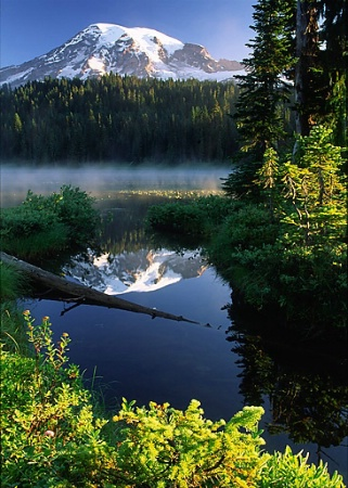 Misty Morning at Reflection Lake
