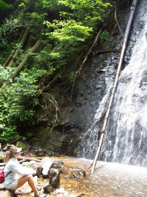 North Carolina- Jamie at the falls