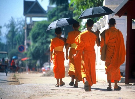 Young Monks in Luangprabang