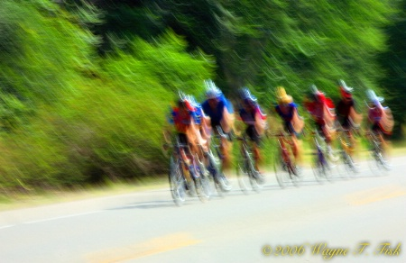 Biker's Blur at Finish line