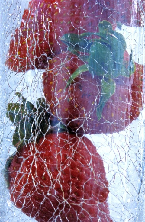 Strawberries in a Frosted Glass
