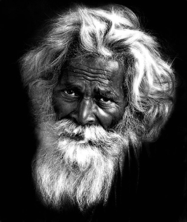 portrait of an old native