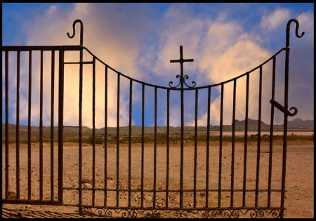 Calico Cemetary Gate