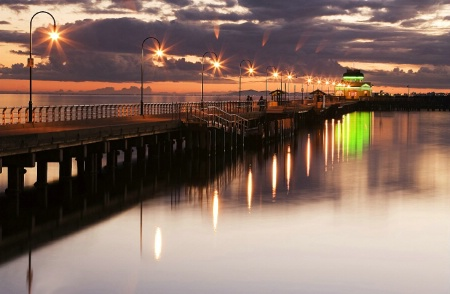 Winter sunset by St.Kilda Pier