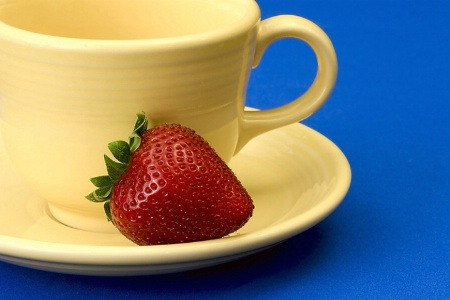 Tea Cup And Strawberry