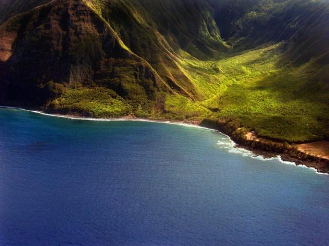 Flying over Molokai