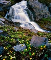 Waterfall Above Lake Irwin
