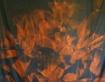 Flame backdrop