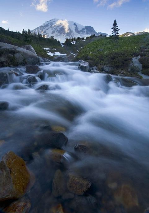 Mt. Rainier with Stream