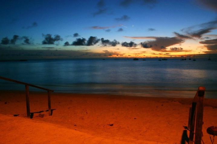Orange lit sunset