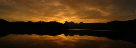 Sunrise over Lake McDonald