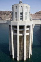 Graphic design: Hoover Dam intake