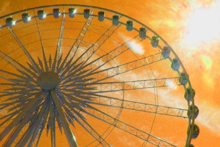 Toronto- Ferris Wheel Orangeness