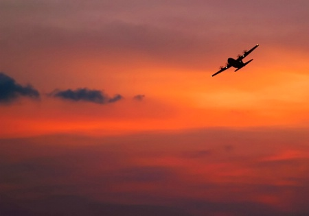 Sunset Fly-by