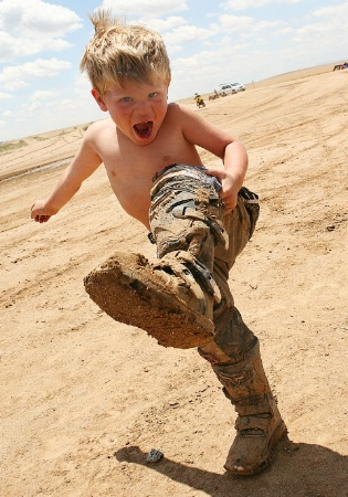"A Boy Is ""COOL"" When He's GOT MUD"