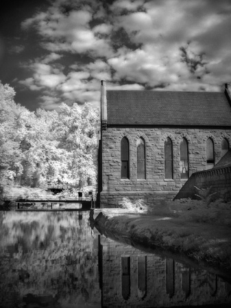 Pump House in Infrared