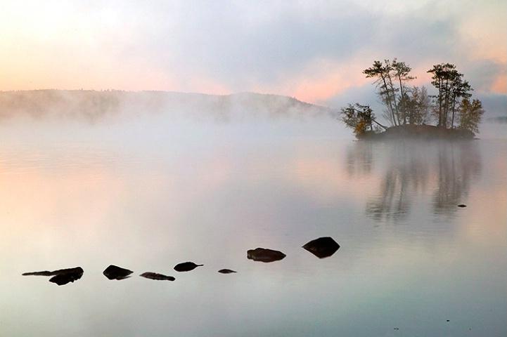 Clearing Mist-Moose Pond