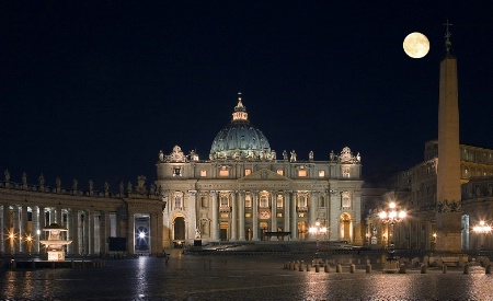 St.Peters Basilica by night