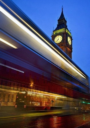 Big Ben with London Bus