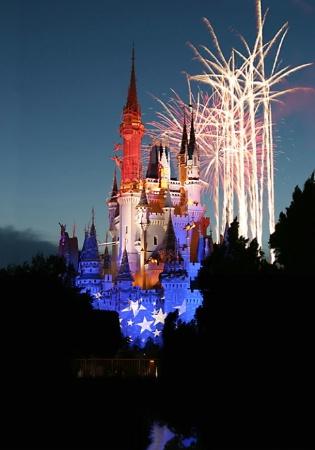 DisneyWorld Fireworks, 7-3-06