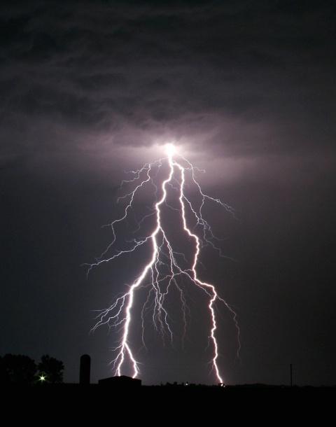 Farm House Lightning Burst