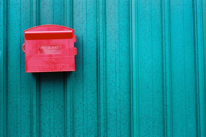A red letter box