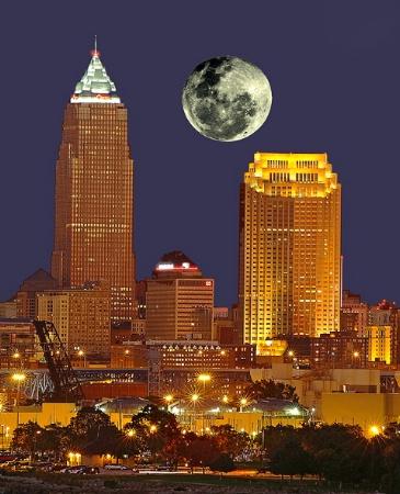 Cleveland Harvest Moonrise