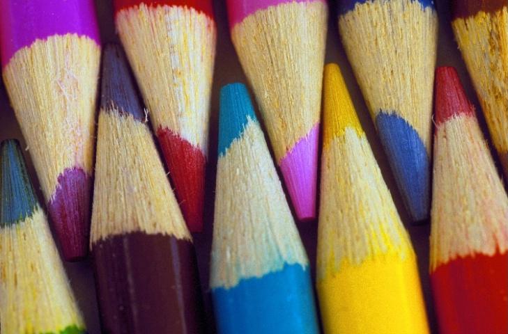 Interlacing Coloured Pencils