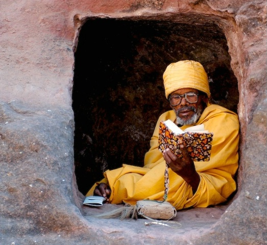 Monk Lalibela Ethiopia