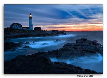 Photography Contest Grand Prize Winner - November 2006: Portland Headlight at sunrise