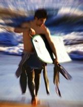 surfing guy at beach