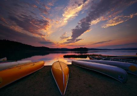 Dawn at Lake of Two Rivers, Algonquin Park