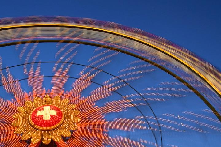 Fun fair wheel