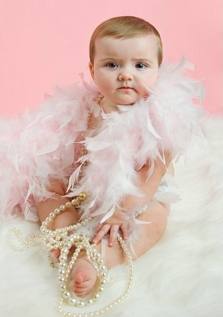 Pink and pearls for little girls.