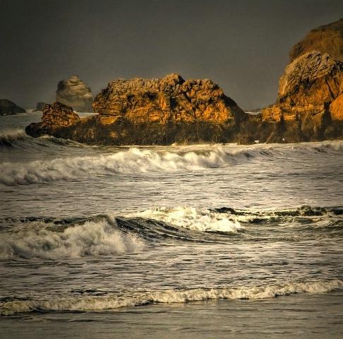 Pacifica coast line