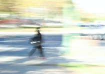 Walking, in motion
