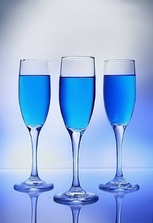 Wine in Blue