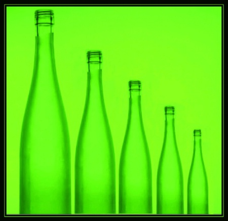 Five green bottles...