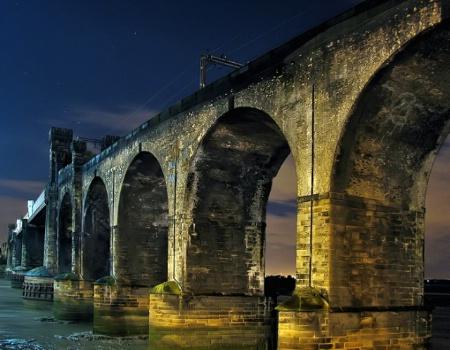 Moonlit Railway Viaduct