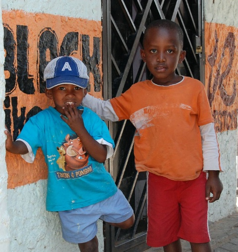 Boys in Alexandra, South Africa